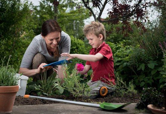 Vrtnarjenje je lahko tudi otroška igra