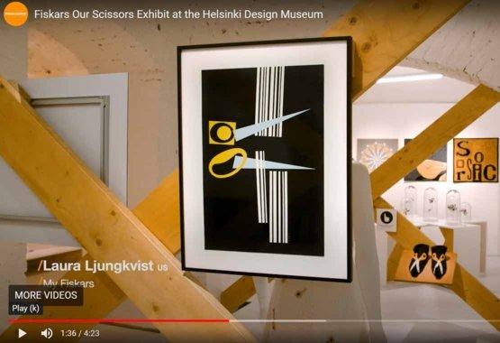 Razstava Fiskars škarij v Design muzeju v Helsinkih VIDEO