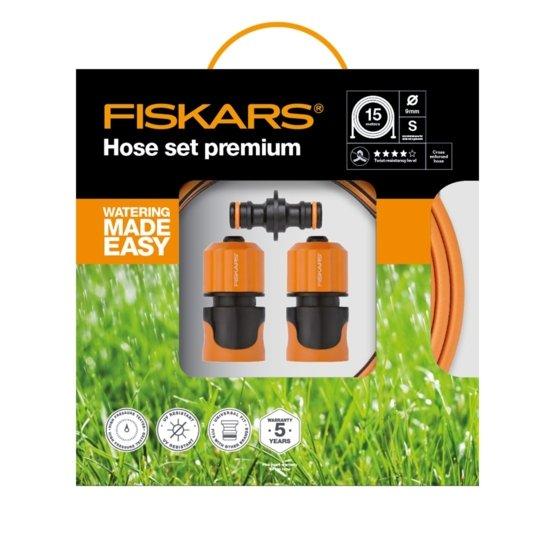 Fiskars set premium (cev + nastavki) Q4, 9 mm, 15 m